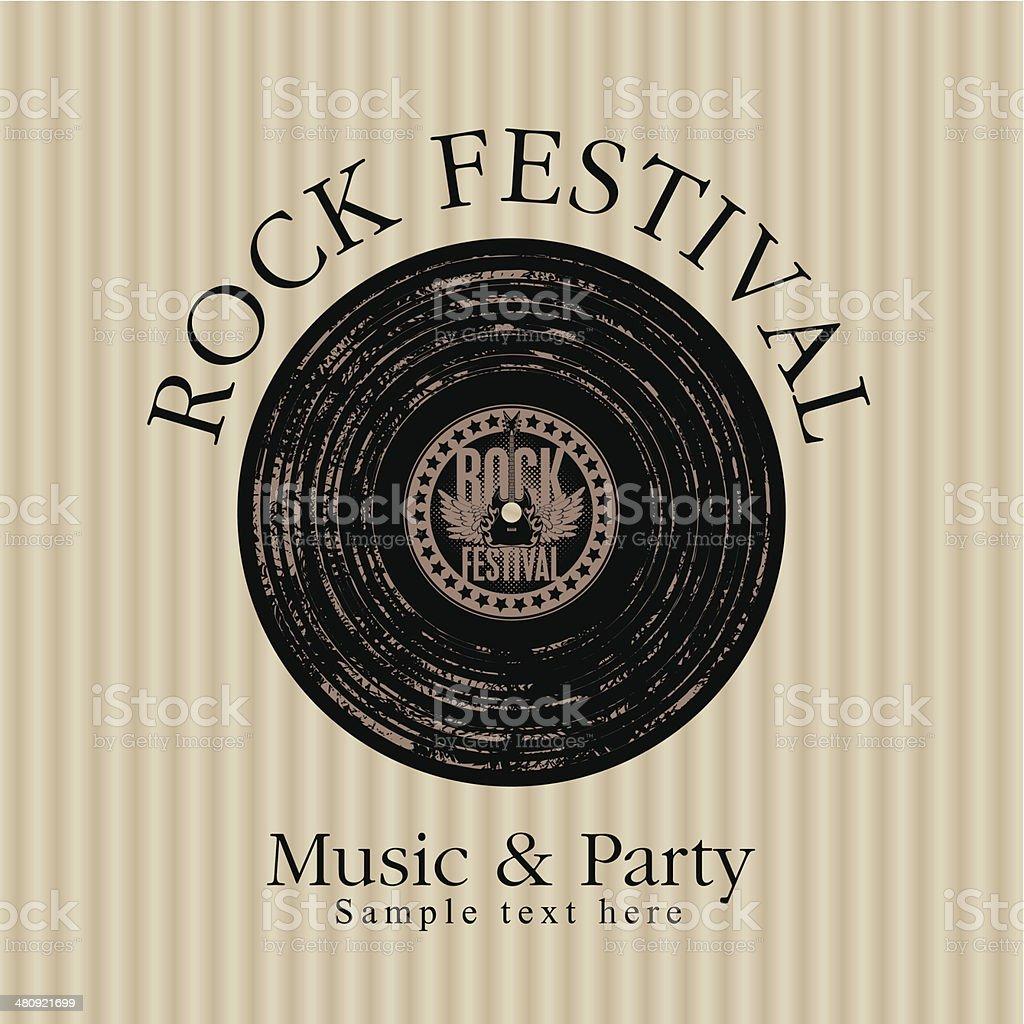 rock music party vector art illustration