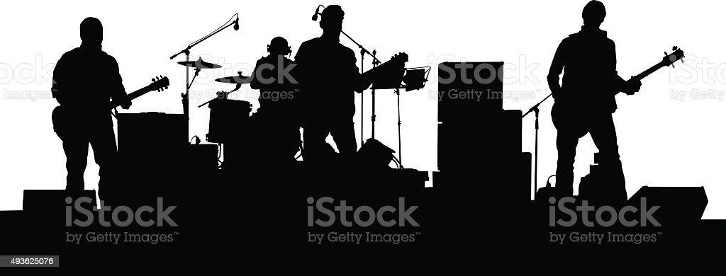 Rock music people vector art illustration