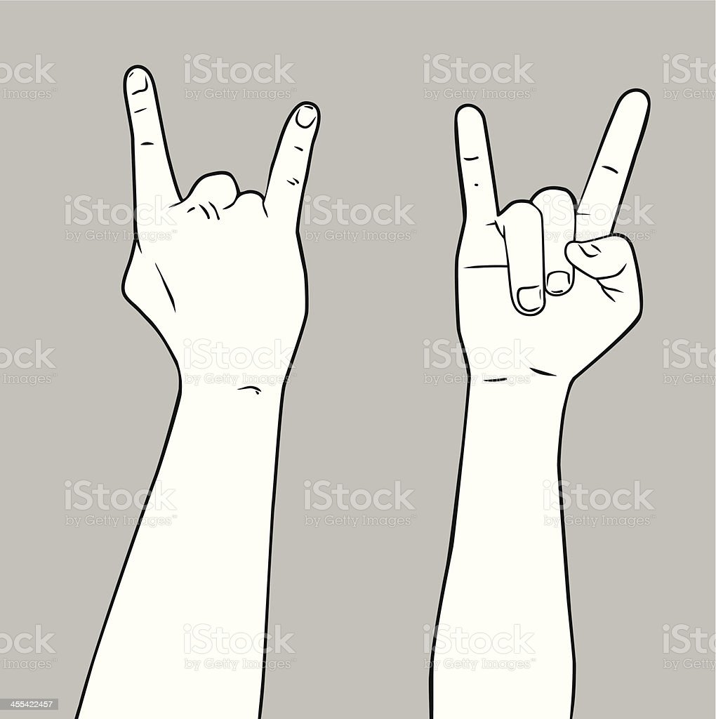 Rock n' Roll Hand vector art illustration
