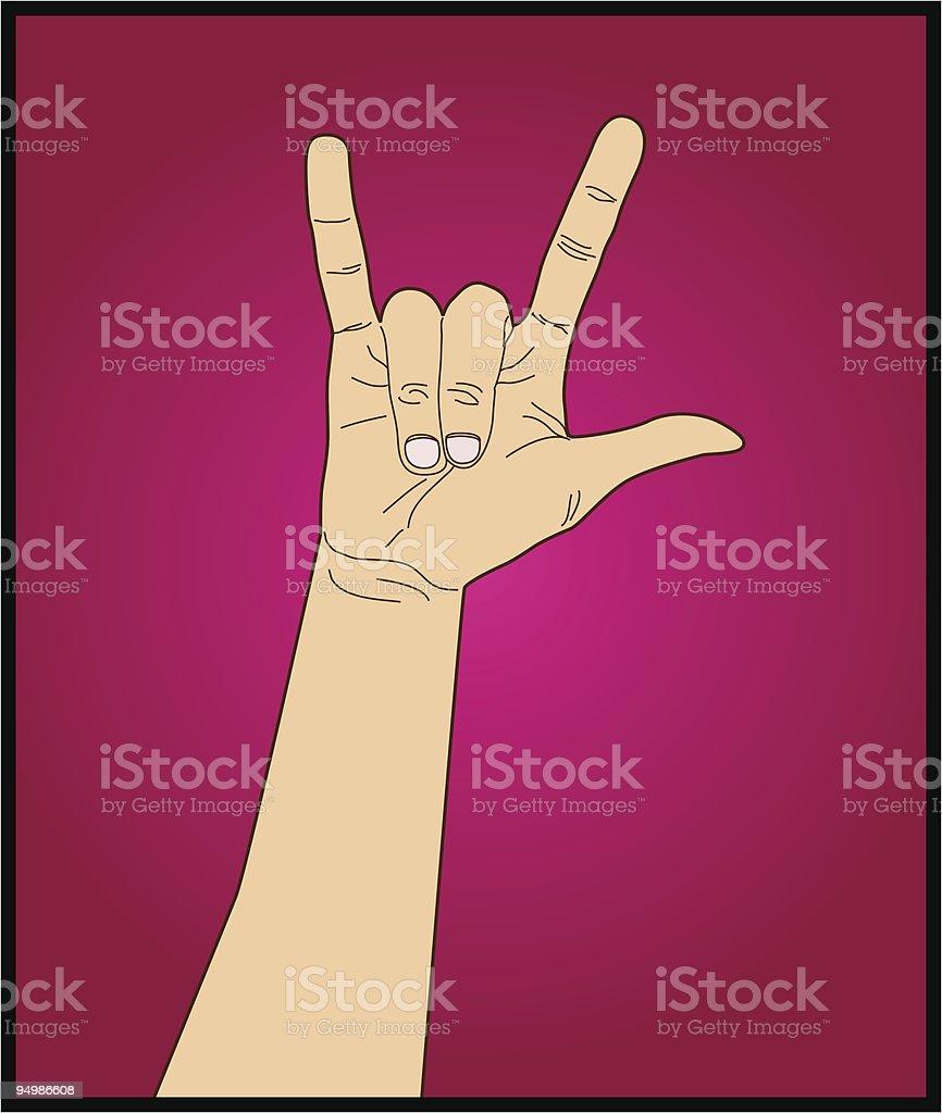 Rock 'n roll royalty-free stock vector art
