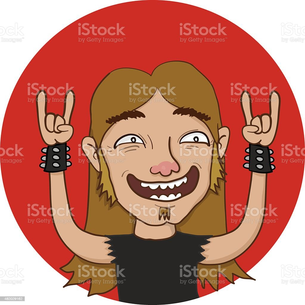 Rock On Dude vector art illustration