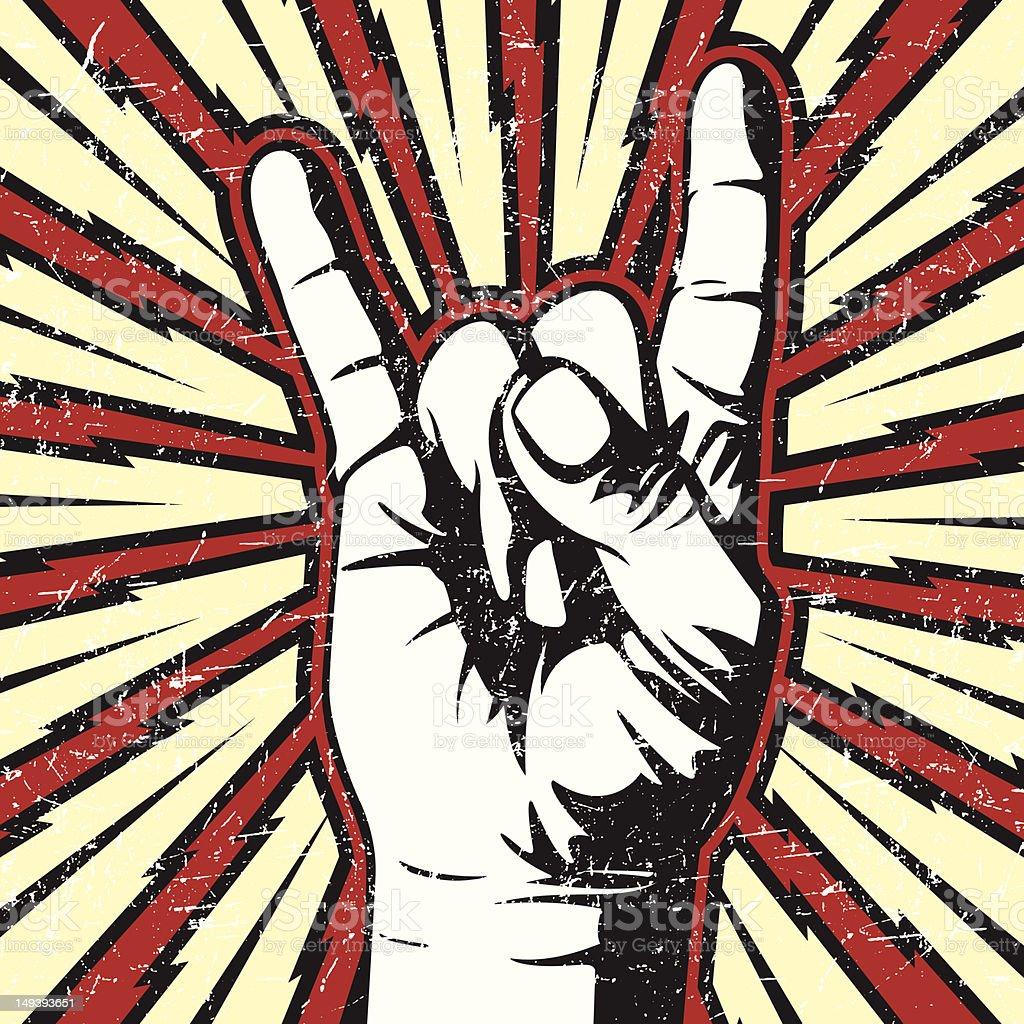 Rock On vector art illustration