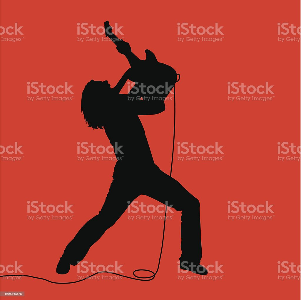 Rock Out! Air Guitarist 07 vector art illustration