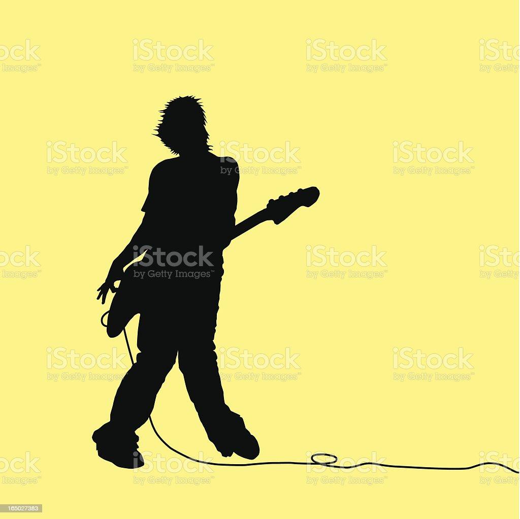 Rock Out! Bass Guitarist royalty-free stock vector art