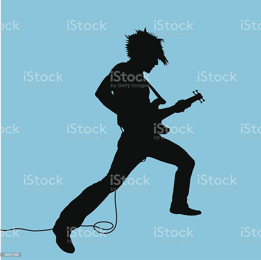 Rock Out! Guitarist #03 vector art illustration