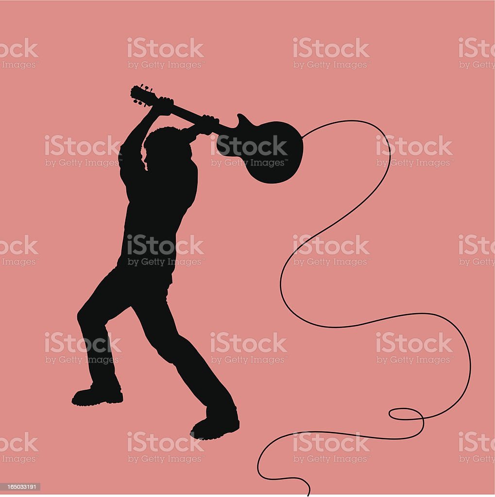 Rock Out! Smashing Guitarist royalty-free stock vector art