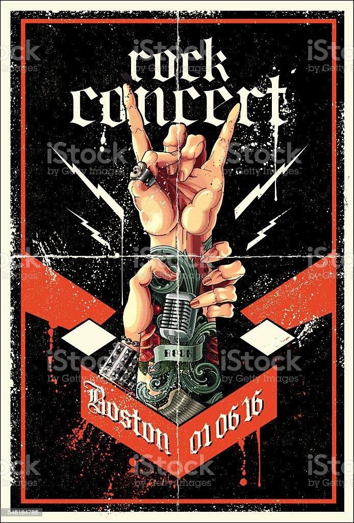 Rock poster vector art illustration