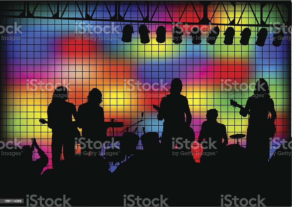 Rock show royalty-free stock vector art