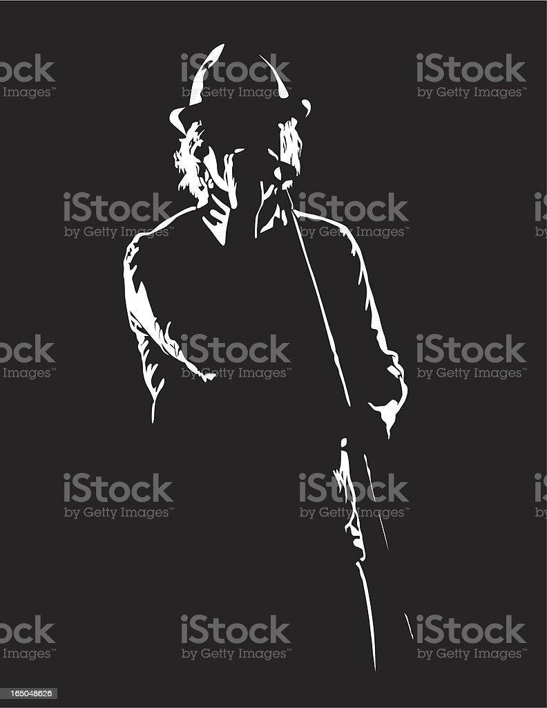 Rock Singer vector art illustration