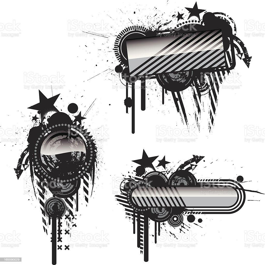rock star banners royalty-free stock vector art