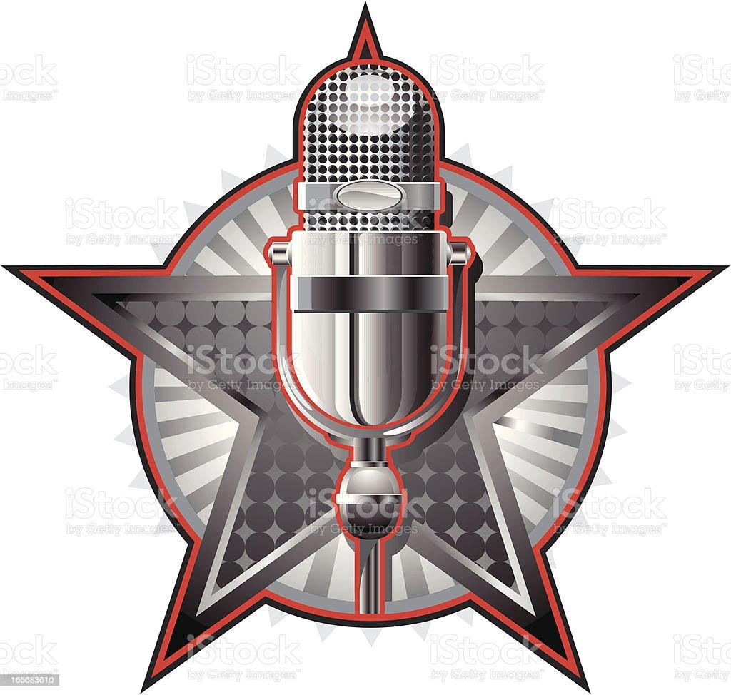 rock star microphone royalty-free stock vector art