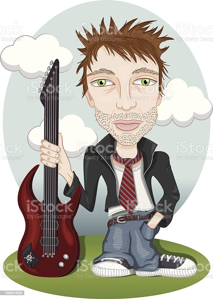 Rock star royalty-free stock vector art