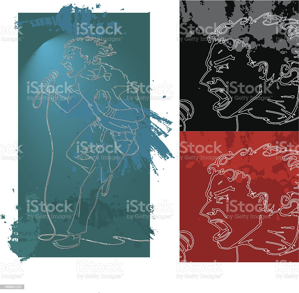 Rock Star Vocalist royalty-free stock vector art
