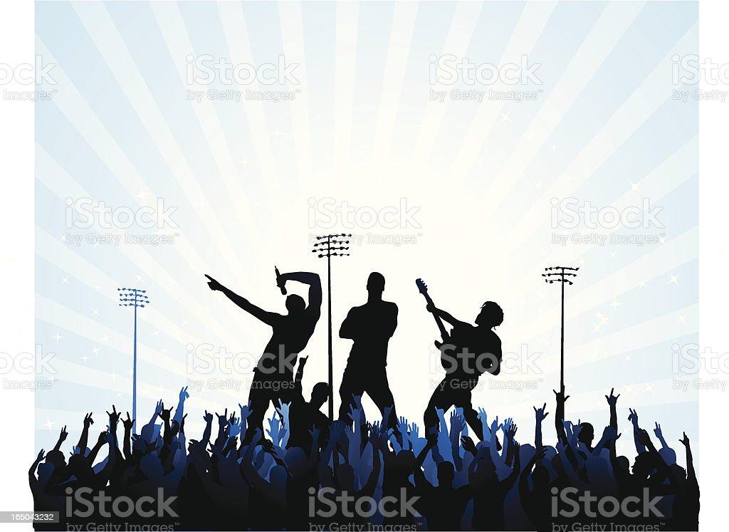 Rock stars vector art illustration