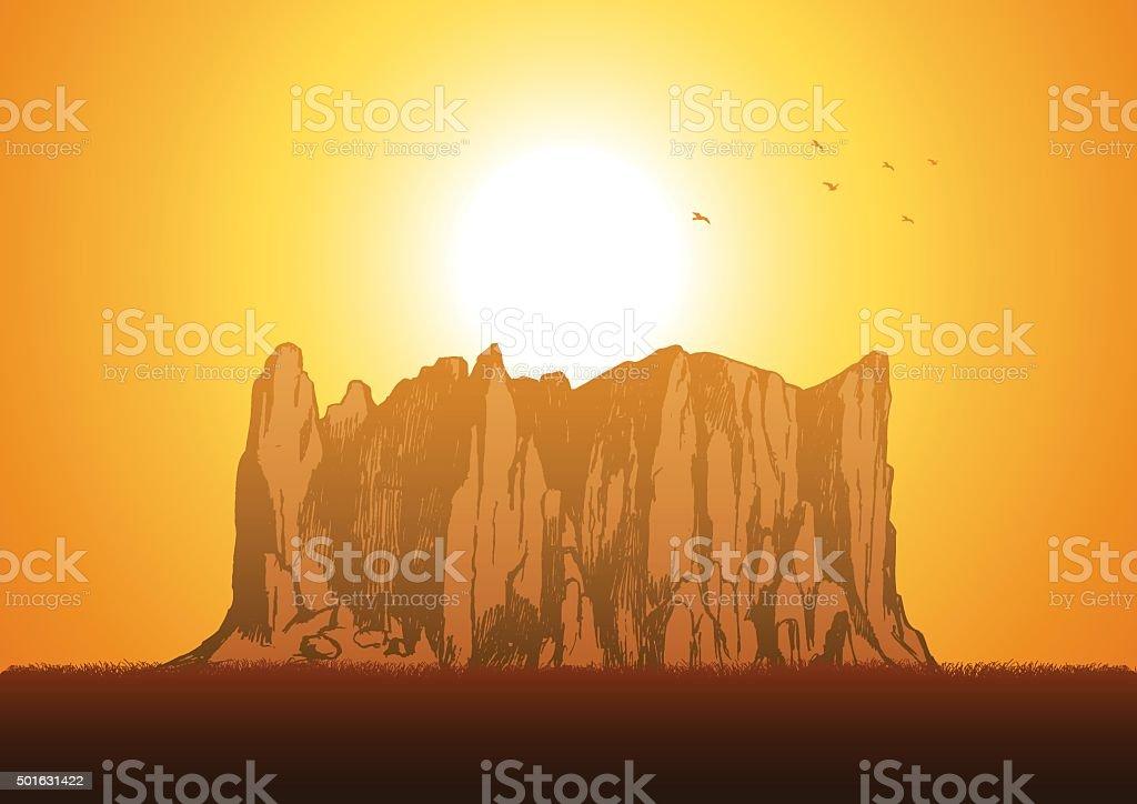 Rock vector art illustration