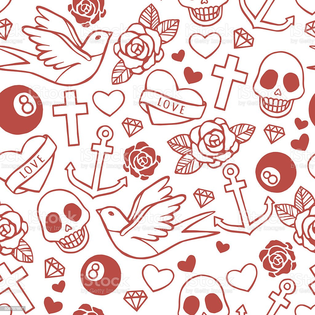 Rockabilly Wallpaper: Rockabilly Stock Vector Art 506797667