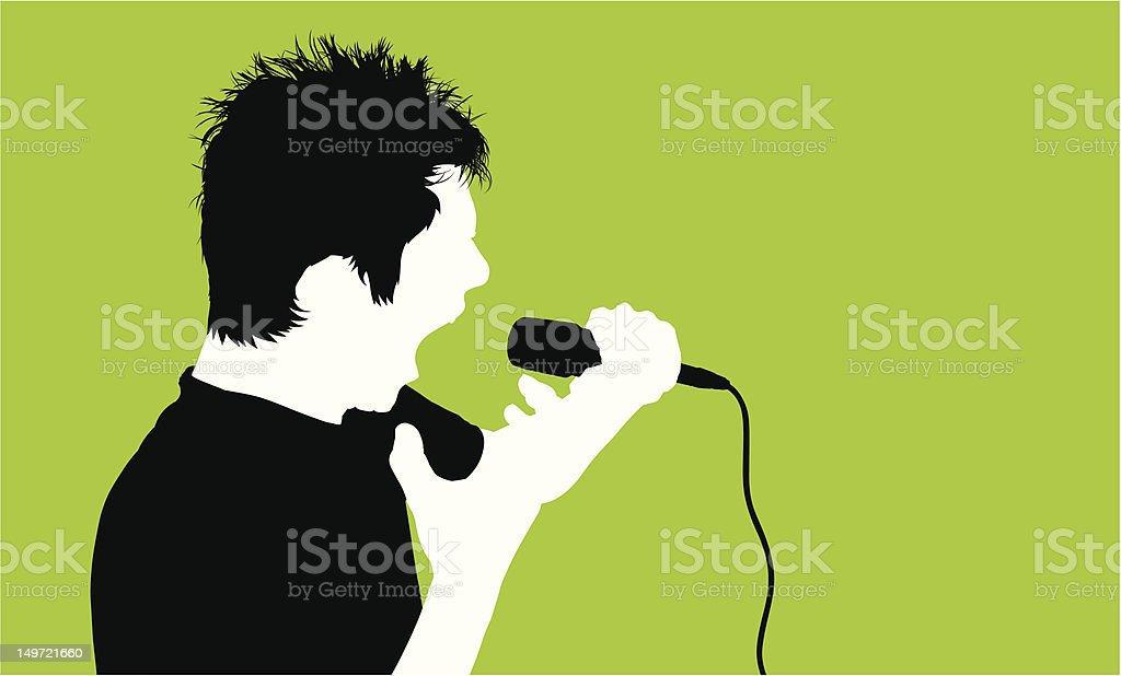 Rocker Rockin' Out [green] royalty-free stock vector art