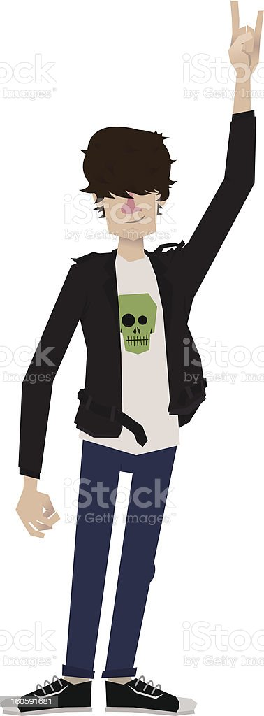 Rocker with leather jacket royalty-free stock vector art