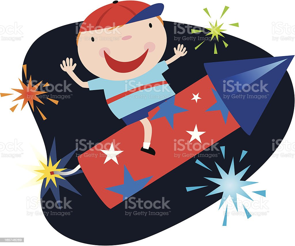 Rocket Boy royalty-free stock vector art