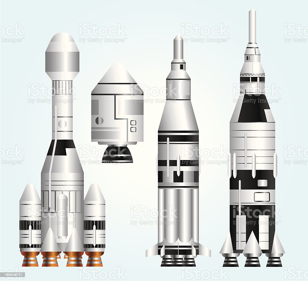 Rocket Colection royalty-free stock vector art