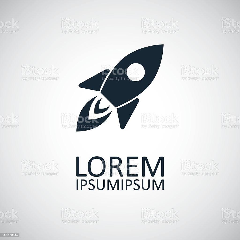 rocket icon vector art illustration