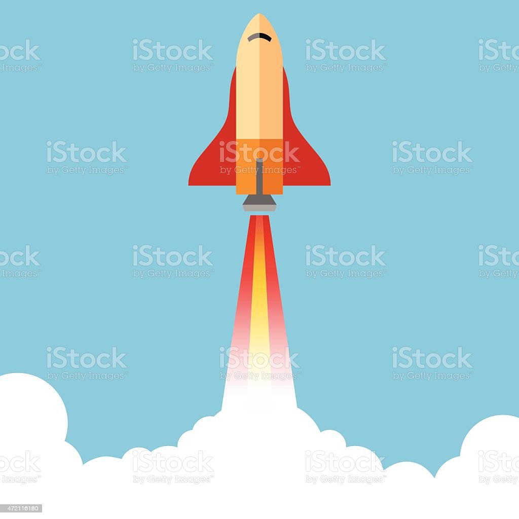Rocket Illustration - VECTOR vector art illustration