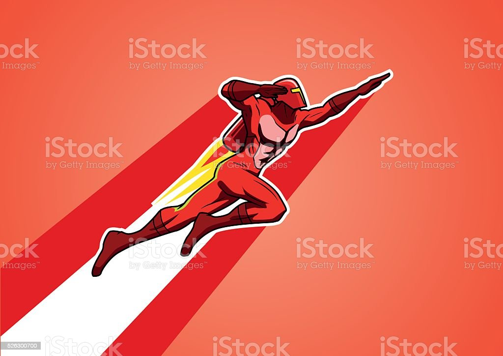 Rocket Jetpack Superhero vector art illustration