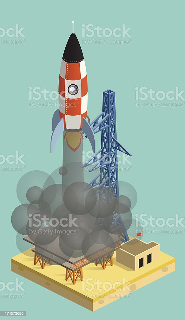 rocket launch royalty-free stock vector art