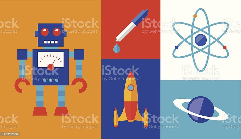 Rocket science vector symbols royalty-free stock vector art