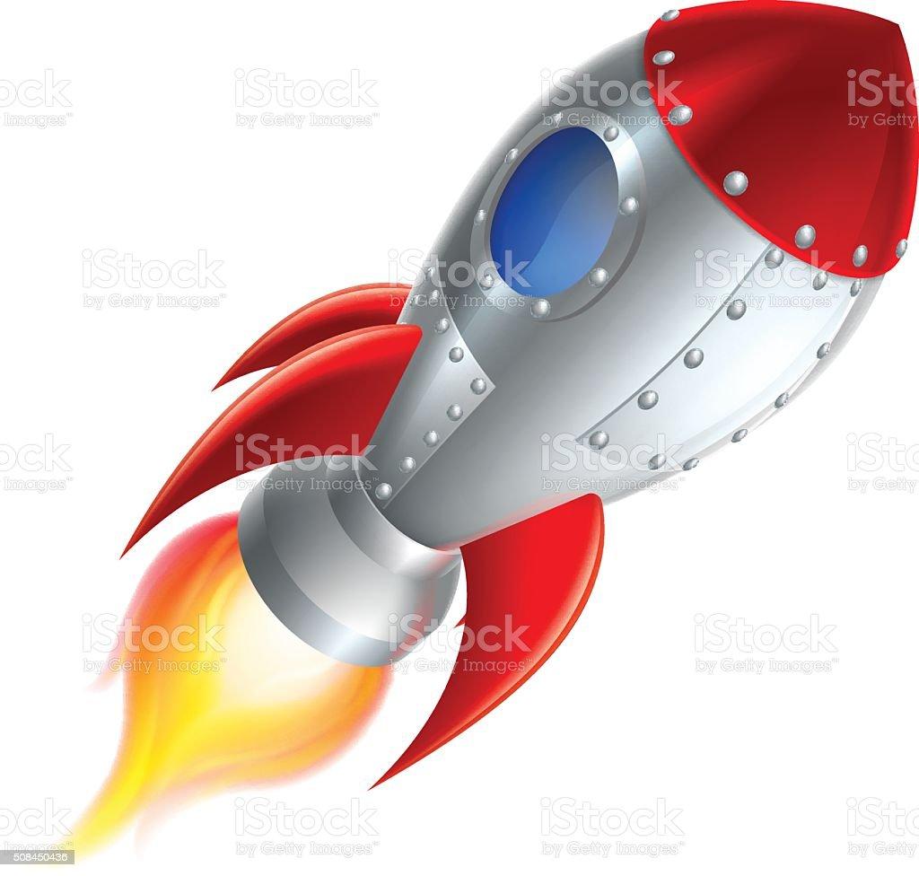 Rocket Space Ship Cartoon vector art illustration