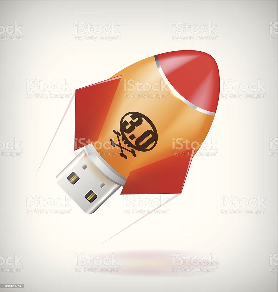Rocket usb royalty-free stock vector art