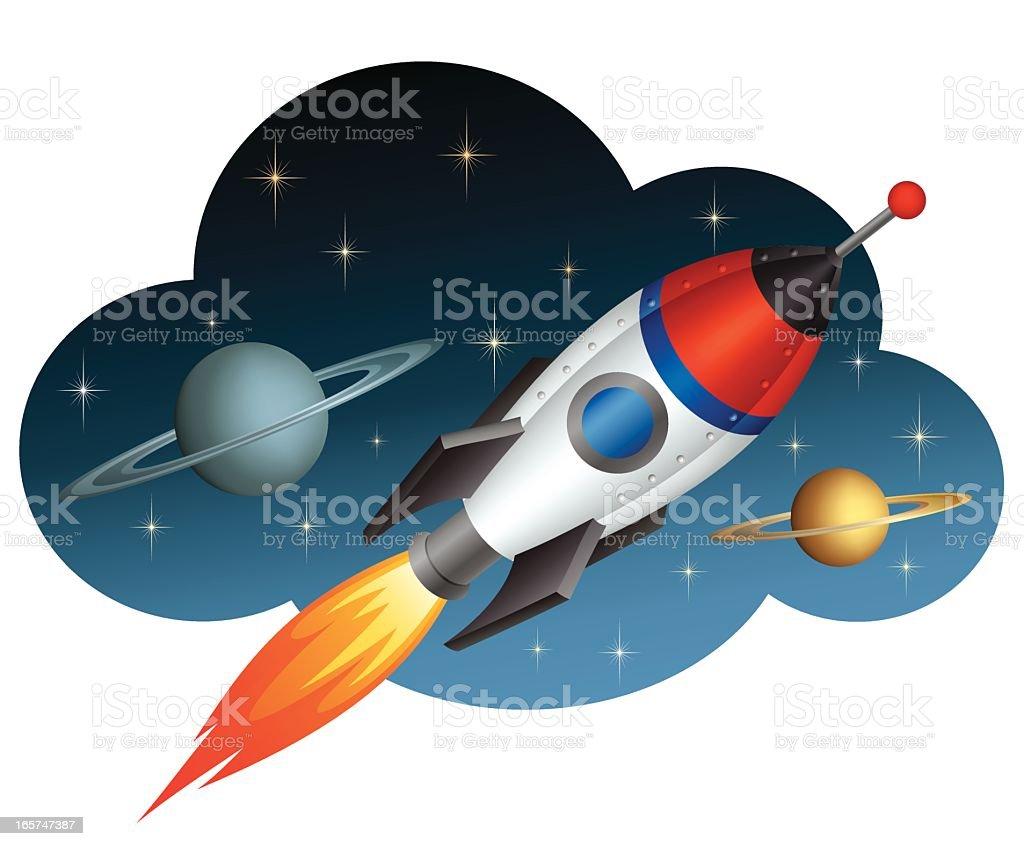Rocket royalty-free stock vector art