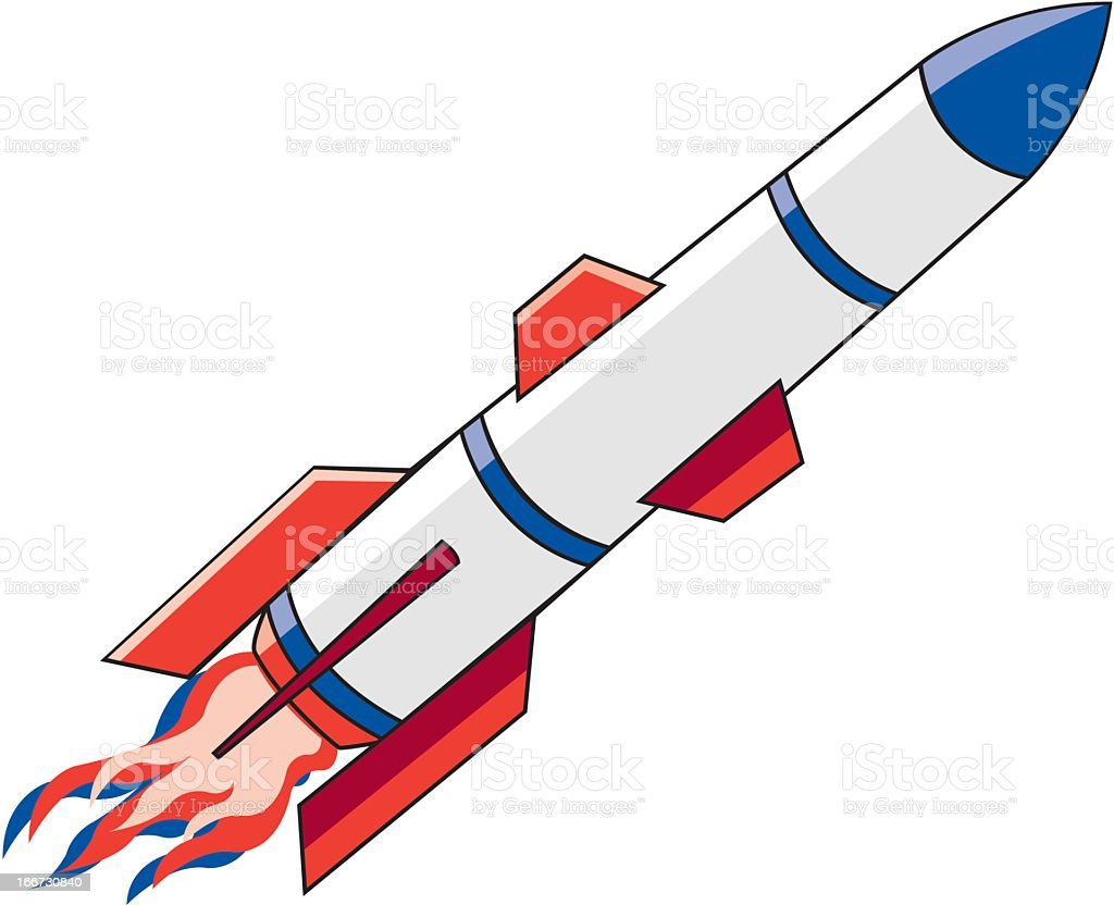 Rocket royalty-free stock vector art