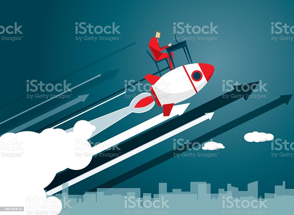 Rocket vector art illustration