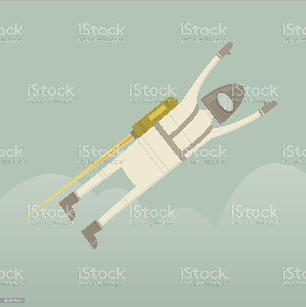 Rocketman vector art illustration