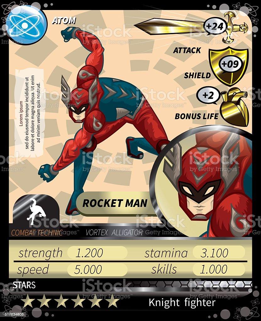 Rocket-Man_Card vector art illustration