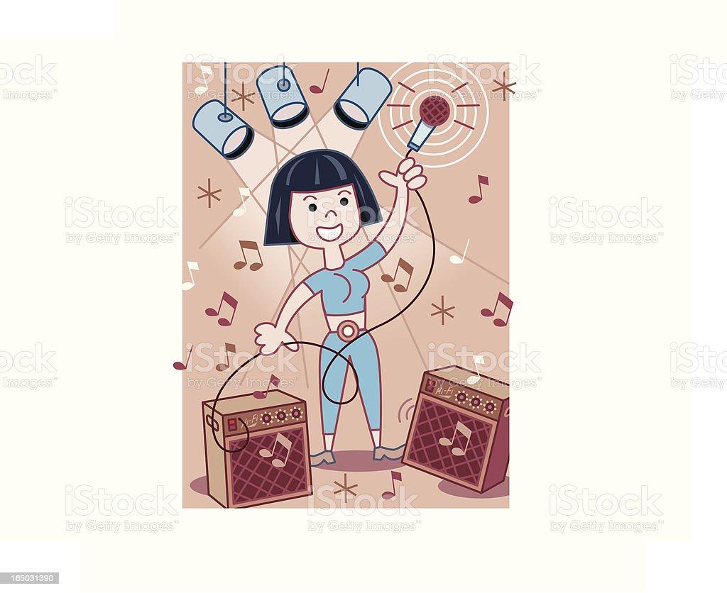 Rockin' Girl! royalty-free stock vector art