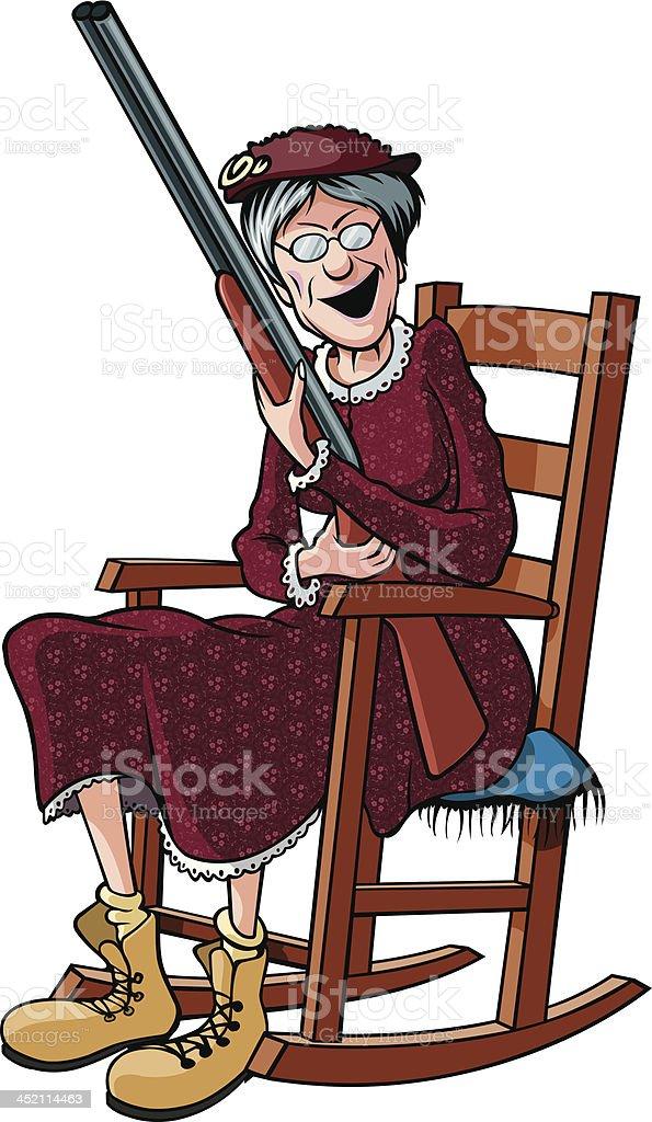 Rockin Granny royalty-free stock vector art