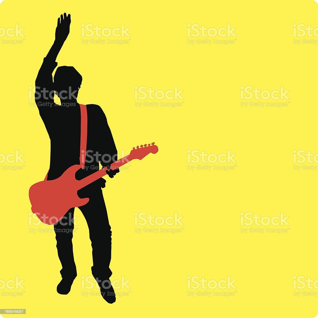 Rockin' Guitarist! (vector/jpg files) royalty-free stock vector art