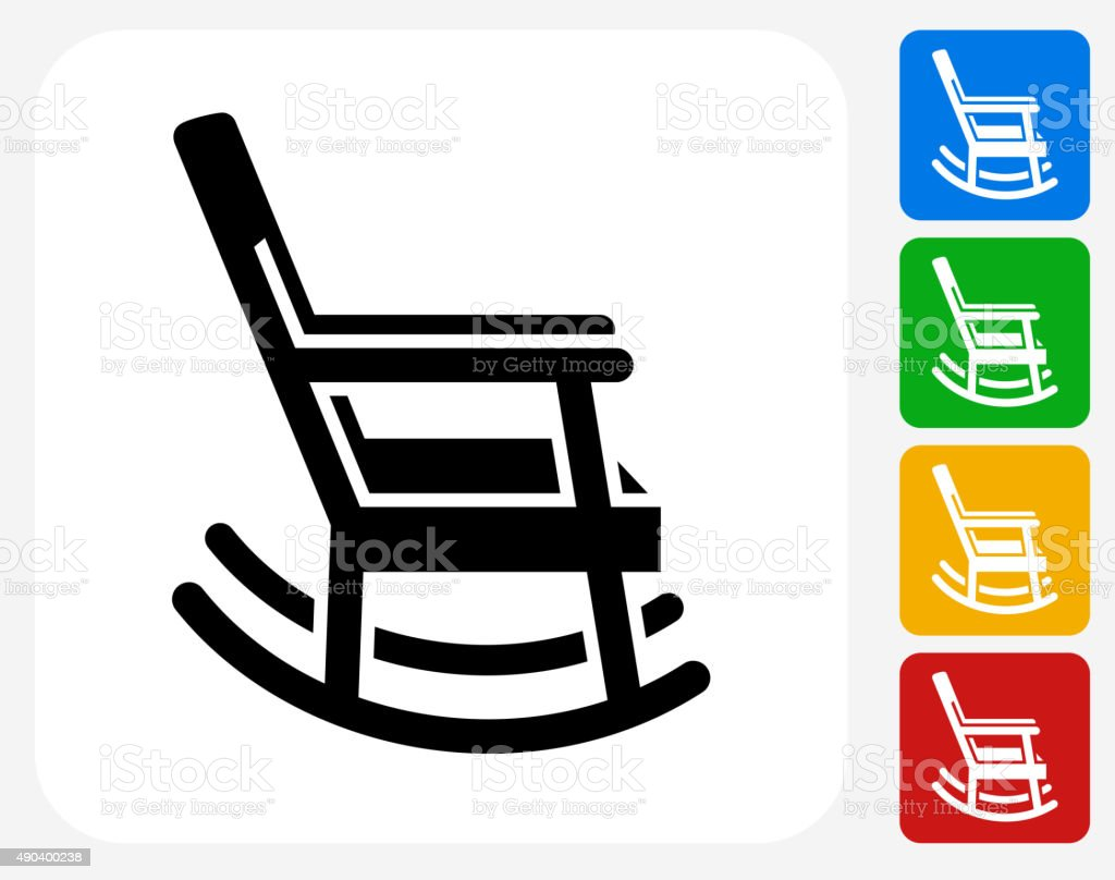 Rocking Chair Icon Flat Graphic Design vector art illustration
