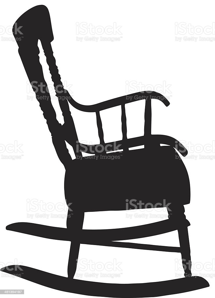 Rocking Chair Clipart white rocking chair clip art, vector images & illustrations - istock