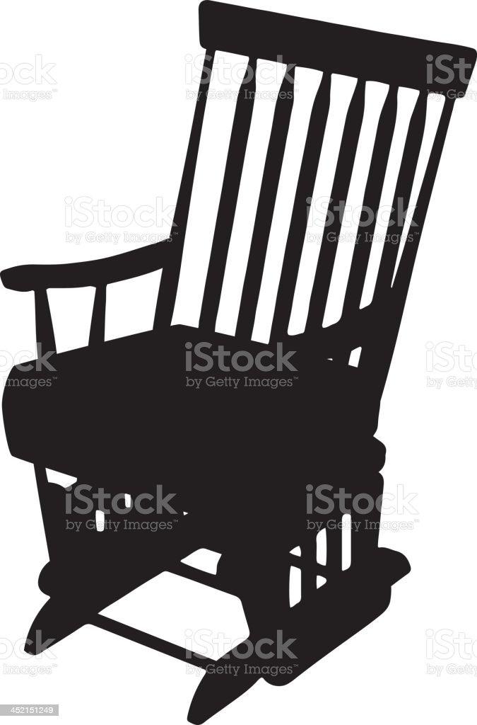 Rocking Chair Silhouette Vector Art Illustration