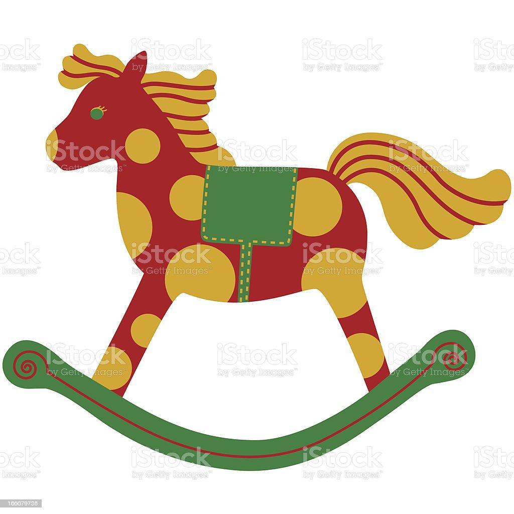 Rocking Horse Icon vector art illustration