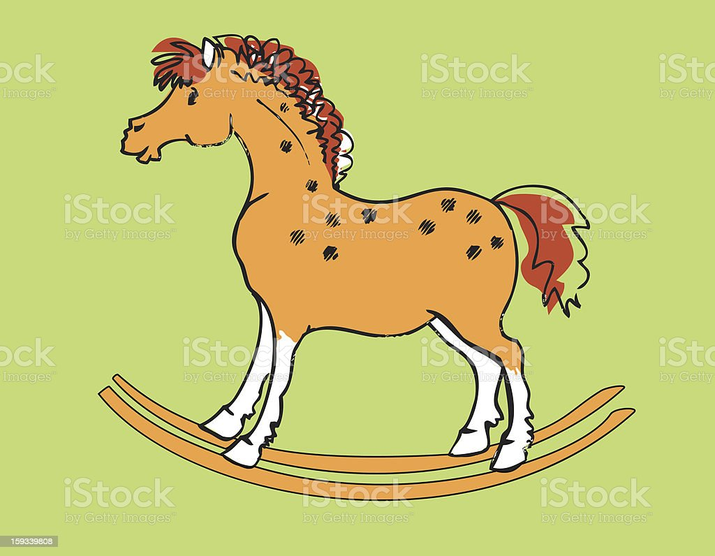Rocking horse royalty-free stock vector art