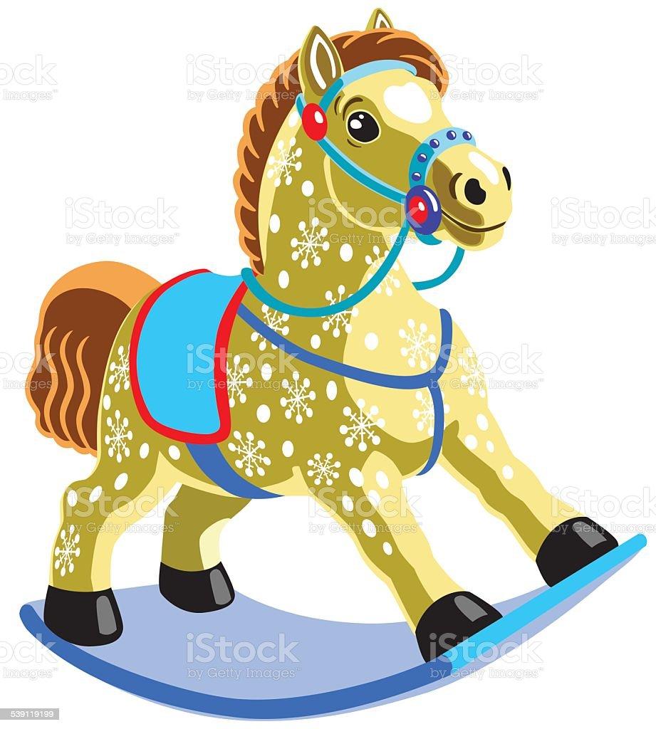rocking horse vector art illustration