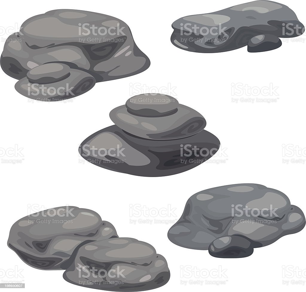 Rocks and Rubble vector art illustration