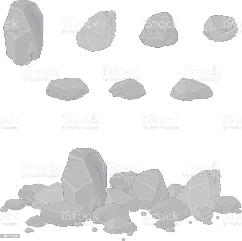 Rocks and Rubble royalty-free stock vector art