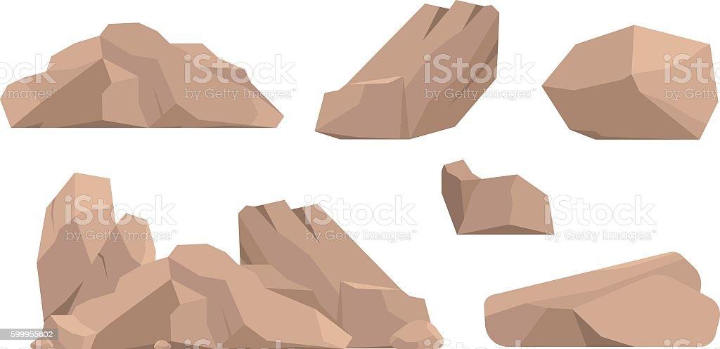 Rocks and stones vector illustration vector art illustration