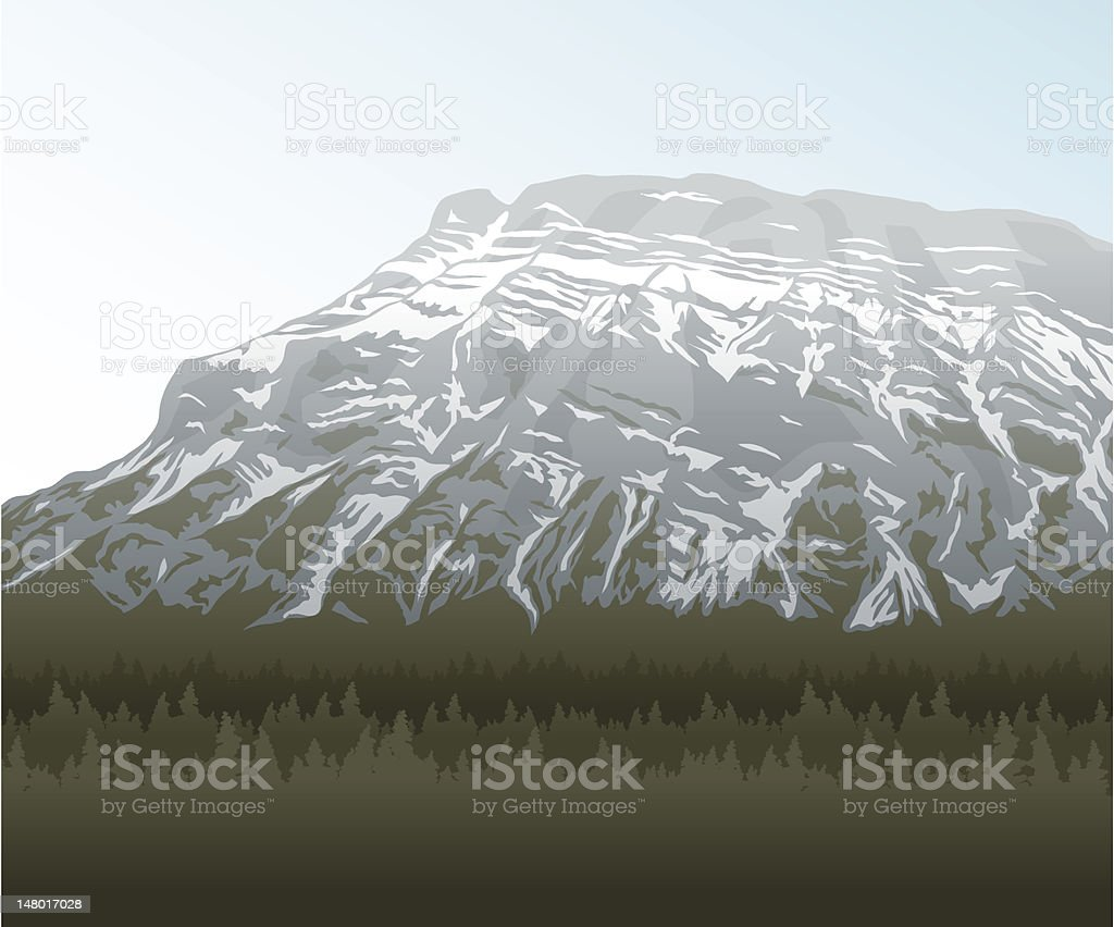 Rocky Mountain view royalty-free stock vector art