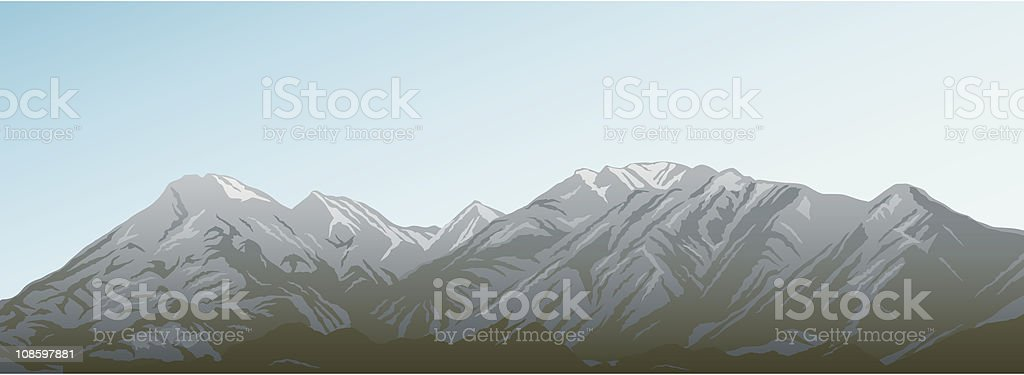 Rocky Mountains Banner royalty-free stock vector art